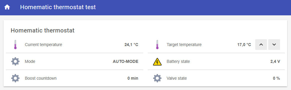 Integration of Homematic Thermostats with openHAB
